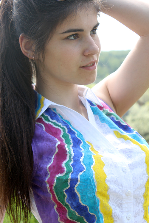 Блузка Радуга