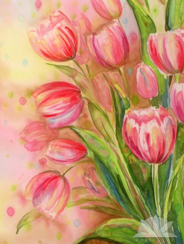 Картина Весна в тюльпанах нежных